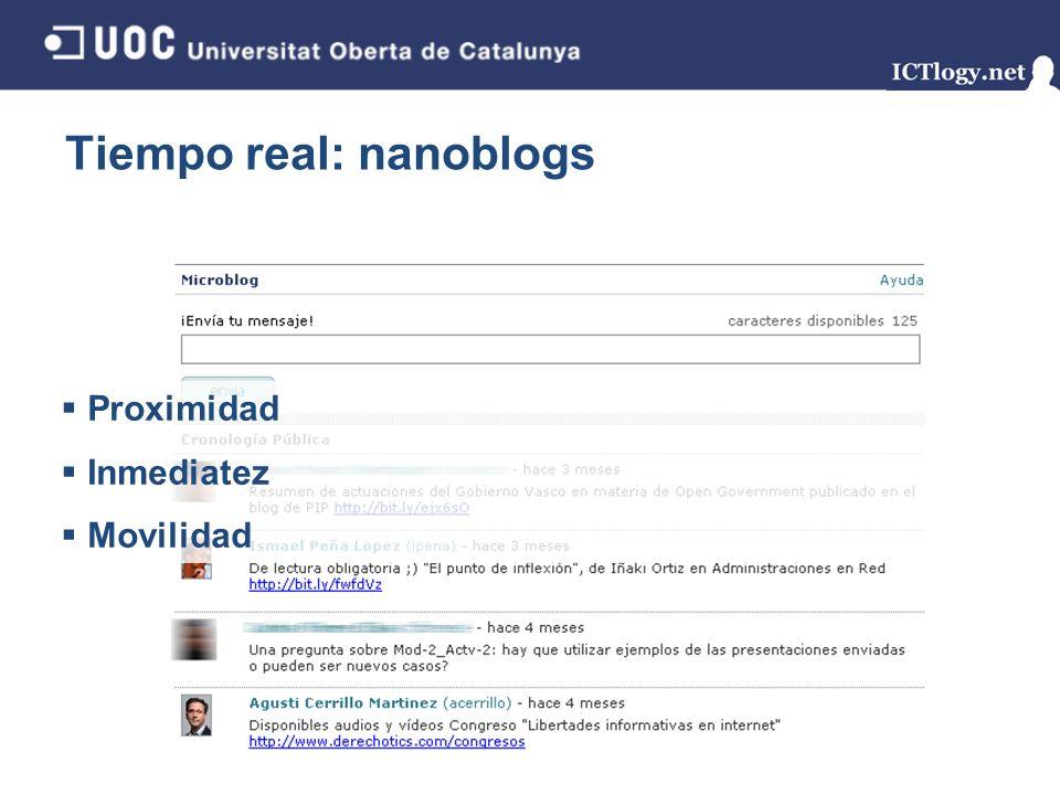 Tiempo real: nanoblogs
