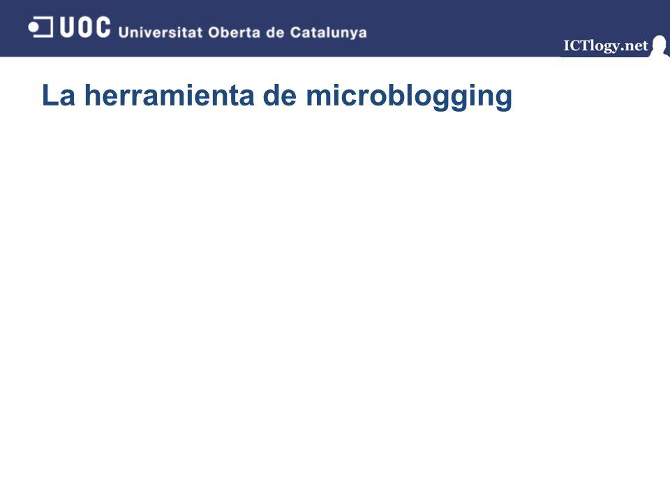 La herramienta de microblogging