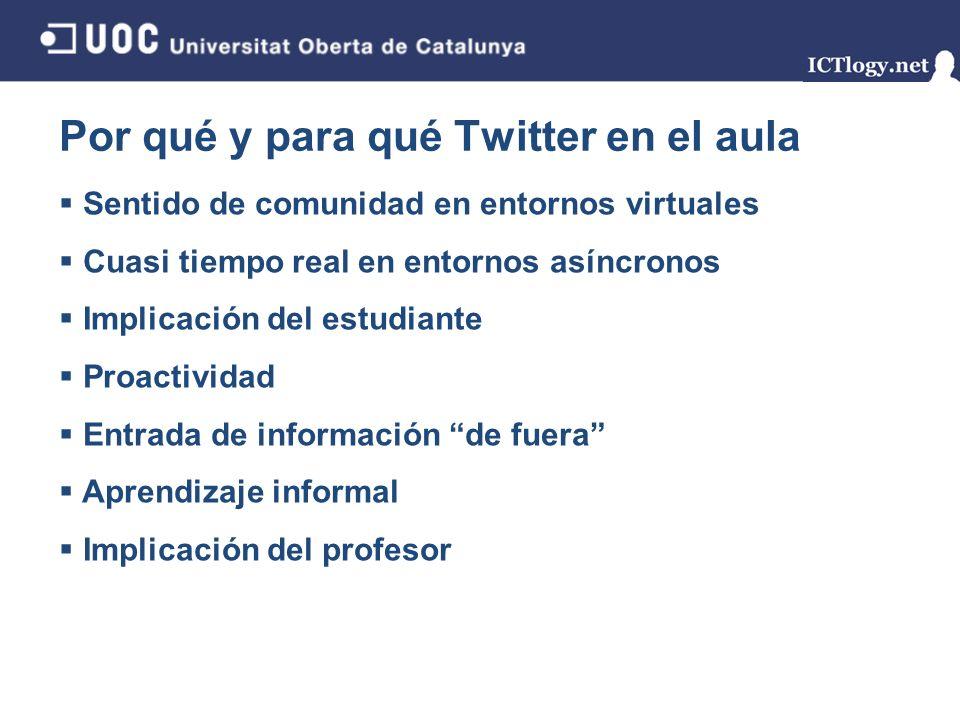 Por qué y para qué Twitter en el aula