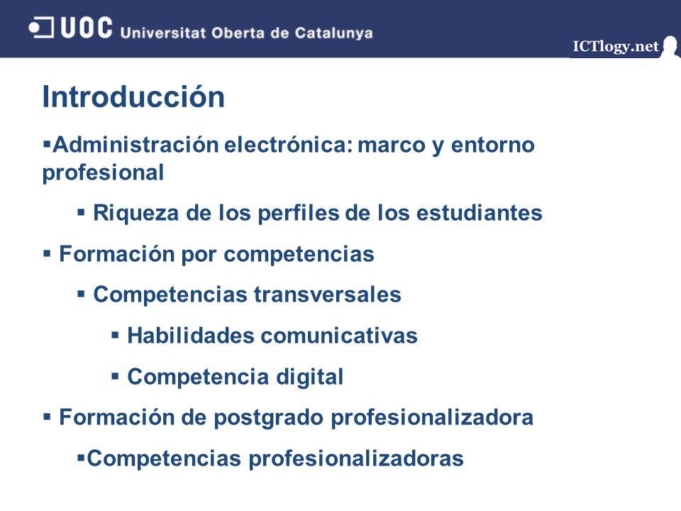 Introducción Administración electrónica: marco y entorno profesional