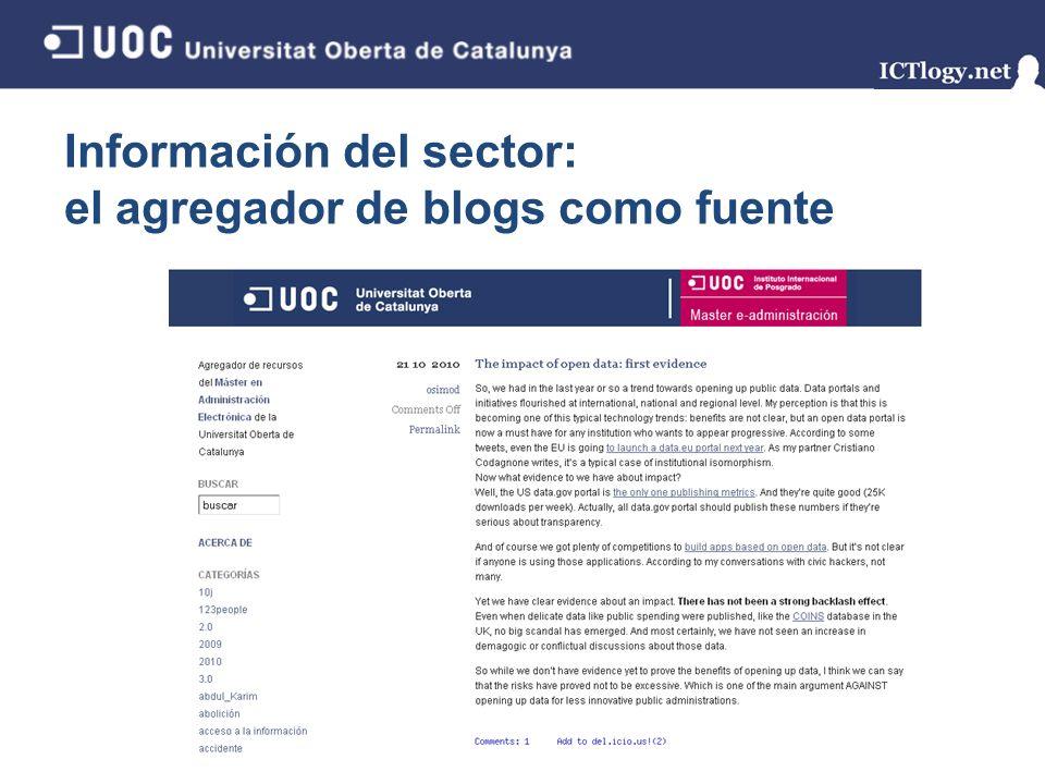 Información del sector: el agregador de blogs como fuente