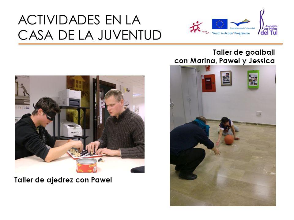 ACTIVIDADES EN LA CASA DE LA JUVENTUD