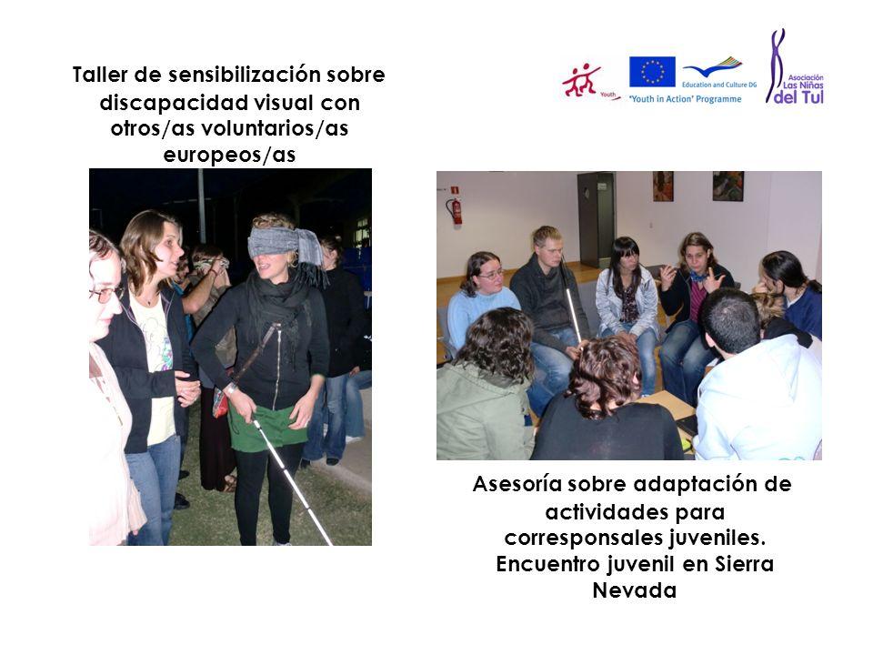 Taller de sensibilización sobre discapacidad visual con otros/as voluntarios/as europeos/as