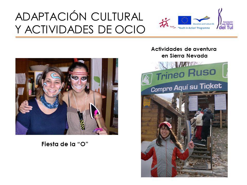 ADAPTACIÓN CULTURAL Y ACTIVIDADES DE OCIO