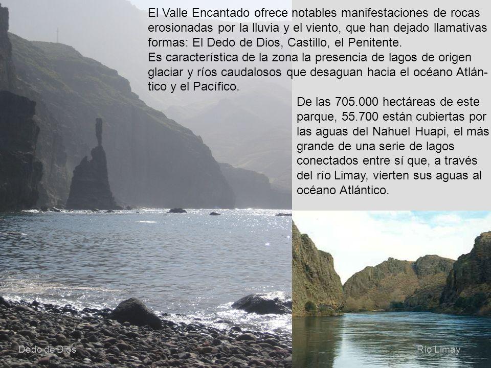 del río Limay, vierten sus aguas al océano Atlántico.