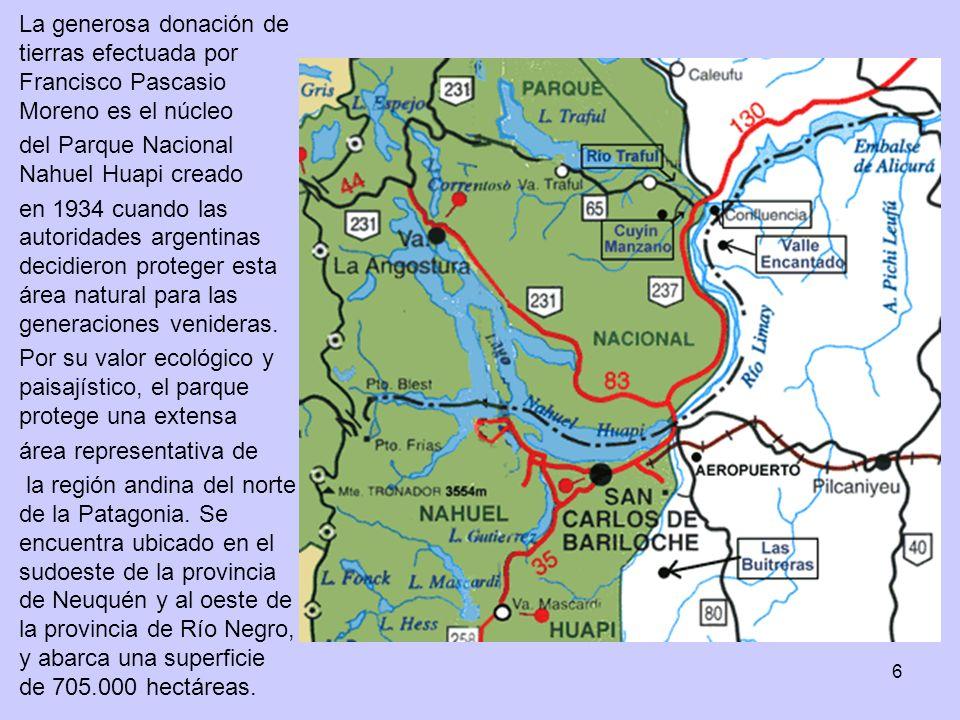 La generosa donación de tierras efectuada por Francisco Pascasio Moreno es el núcleo