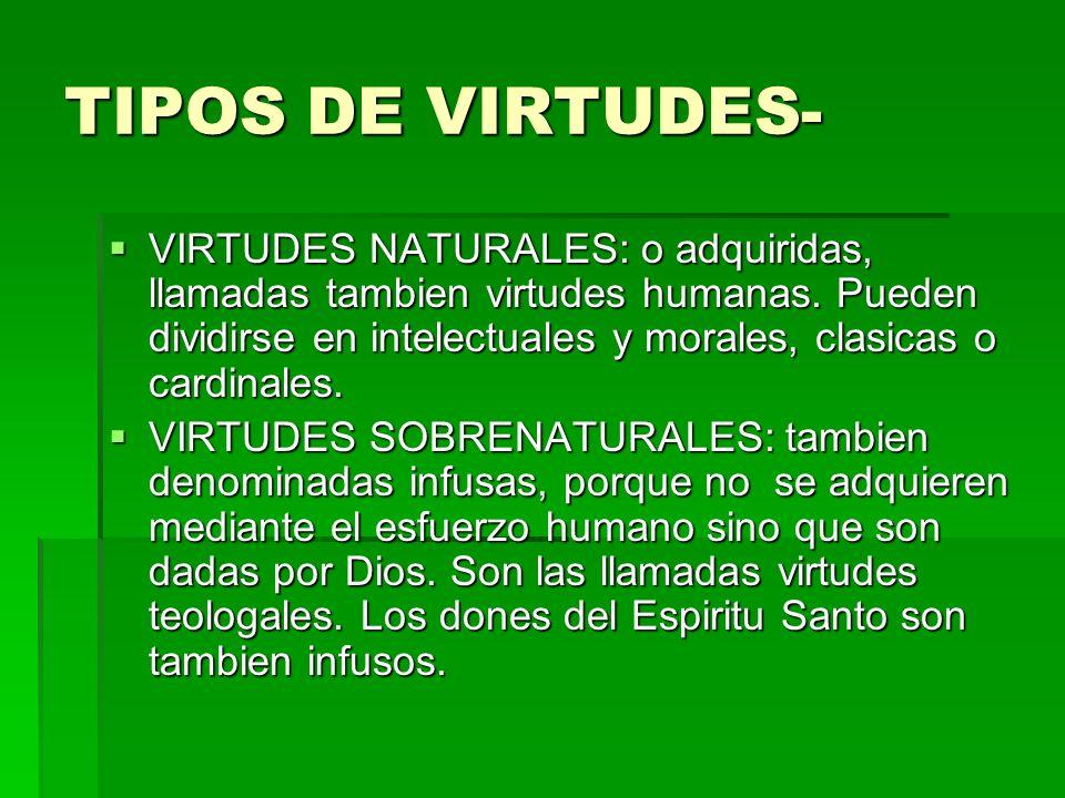 TIPOS DE VIRTUDES-