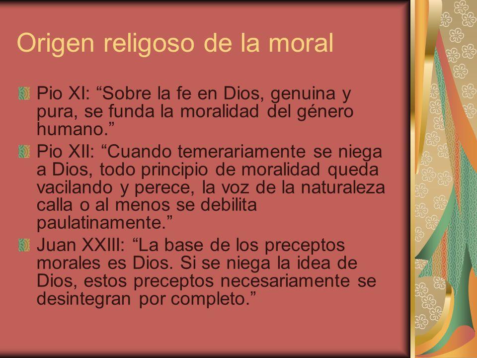 Origen religoso de la moral