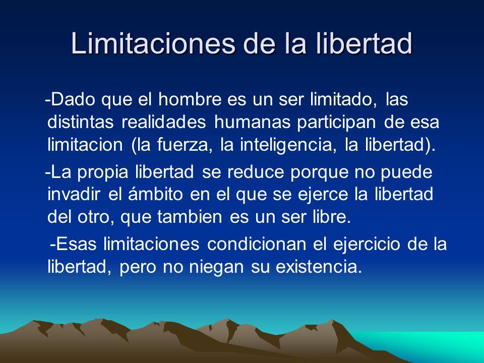 Limitaciones de la libertad