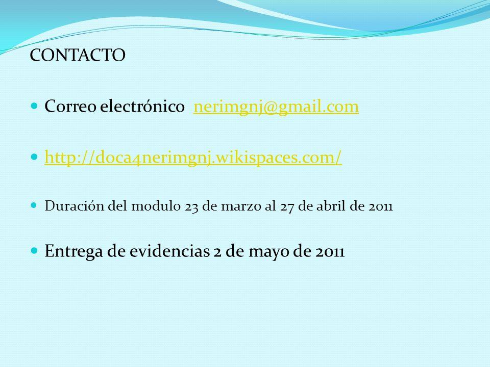 Correo electrónico nerimgnj@gmail.com