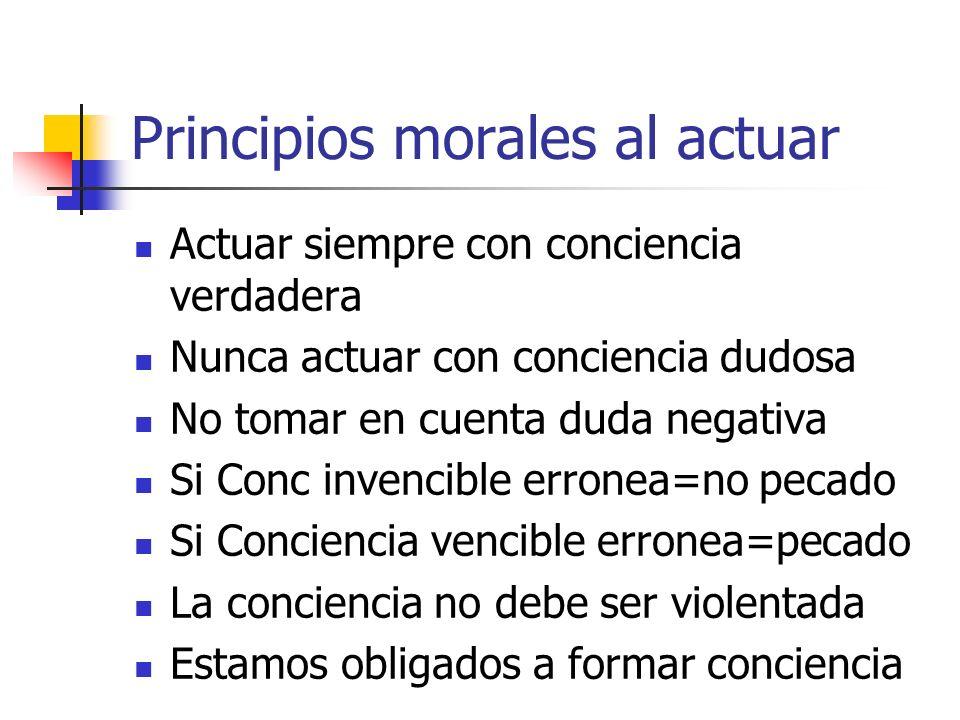 Principios morales al actuar