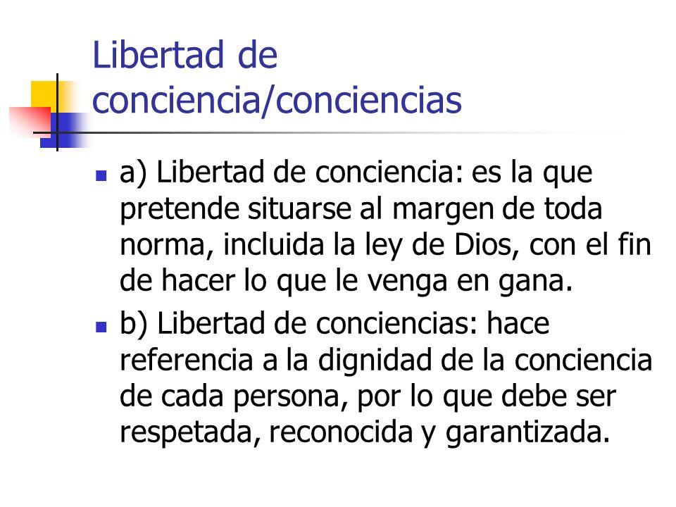 Libertad de conciencia/conciencias