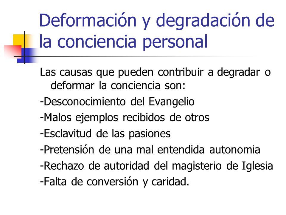 Deformación y degradación de la conciencia personal