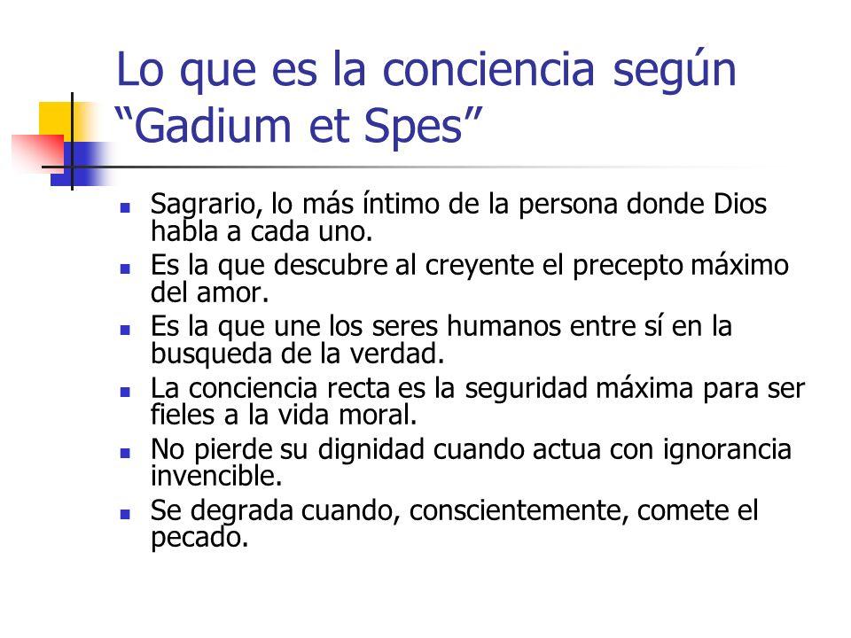 Lo que es la conciencia según Gadium et Spes
