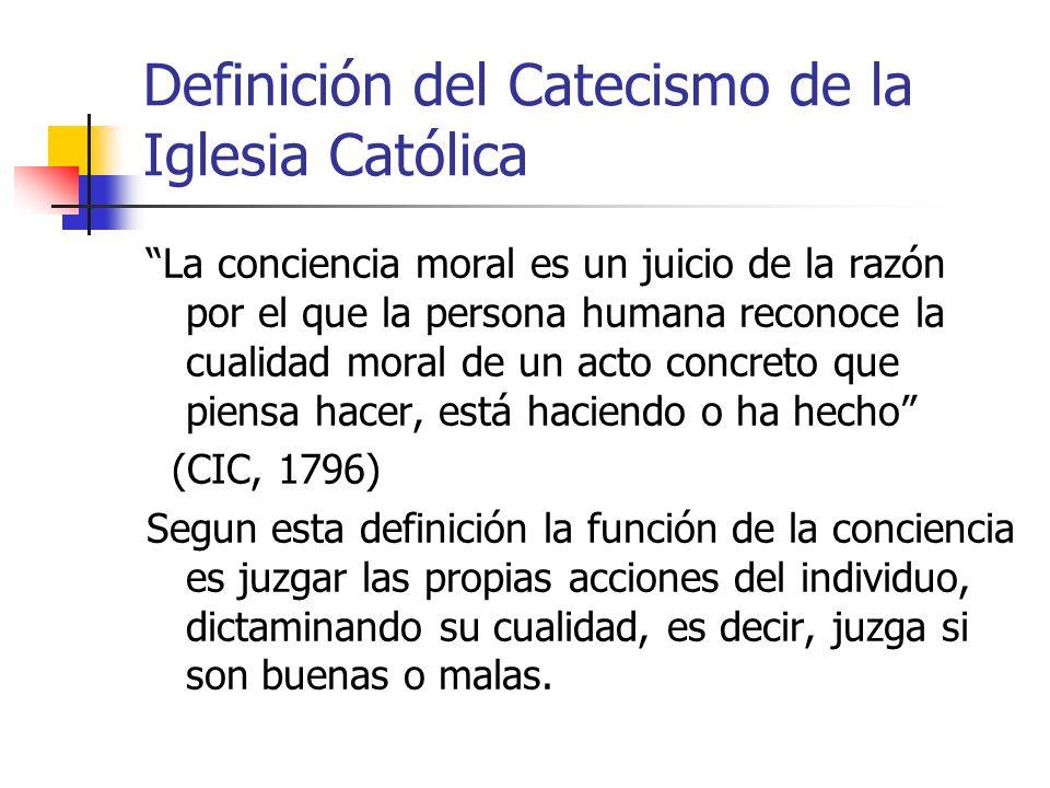 Definición del Catecismo de la Iglesia Católica