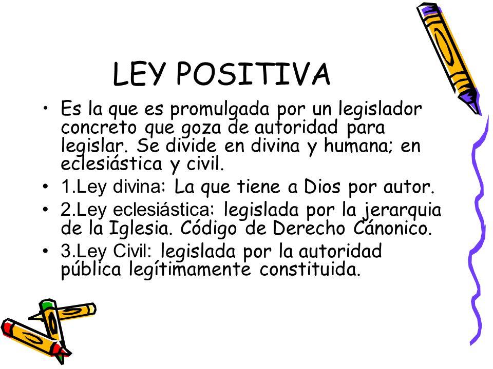 LEY POSITIVA