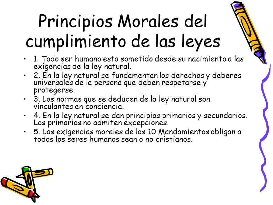 Principios Morales del cumplimiento de las leyes