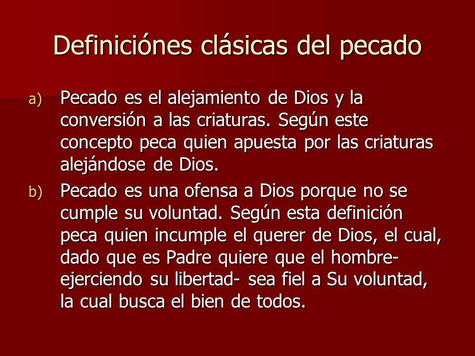 Definiciónes clásicas del pecado