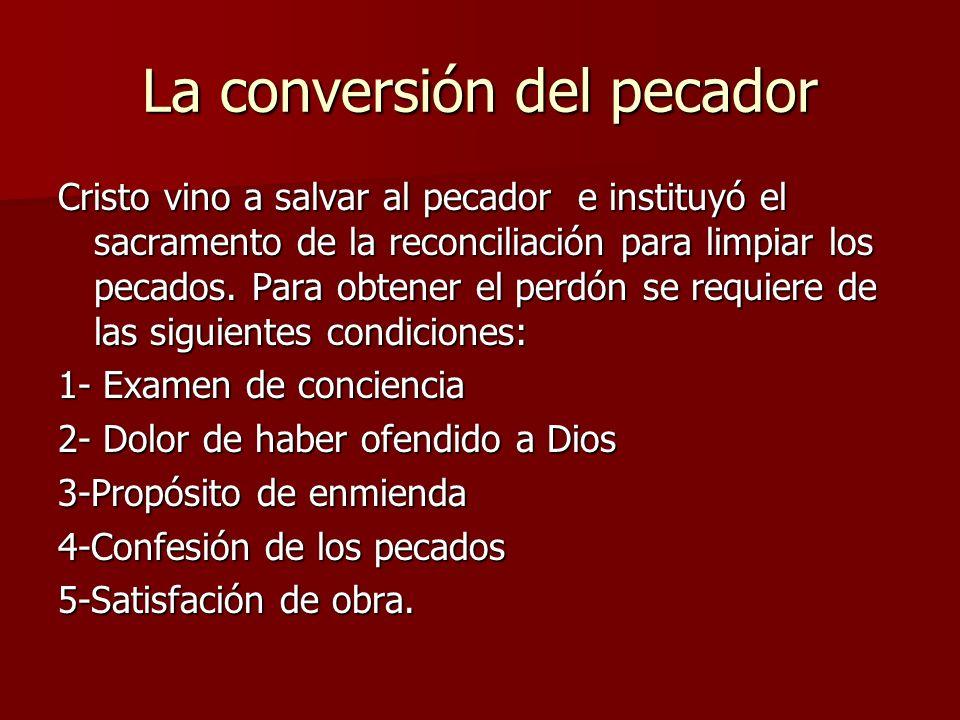 La conversión del pecador