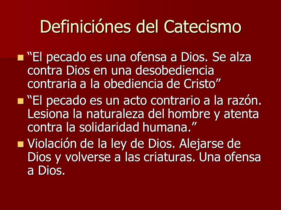 Definiciónes del Catecismo