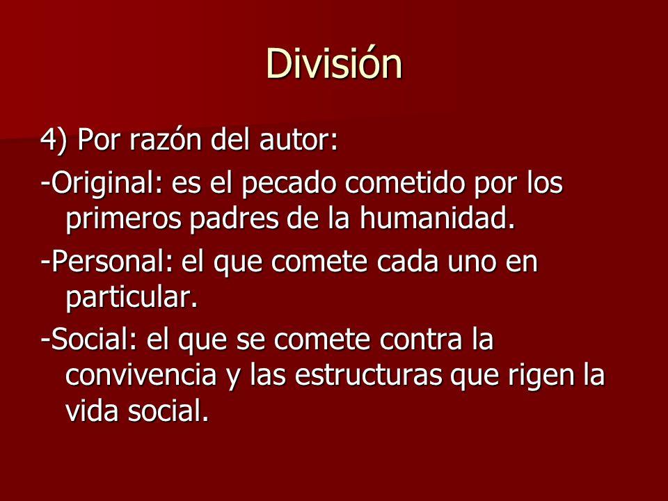 División 4) Por razón del autor: