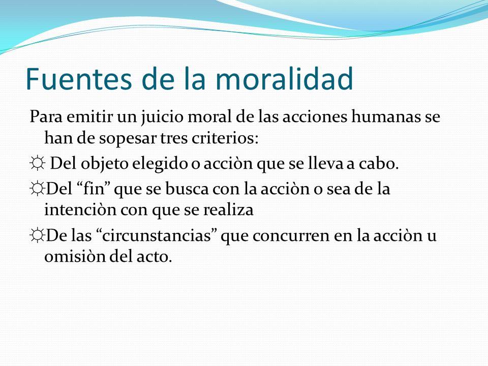 Fuentes de la moralidad
