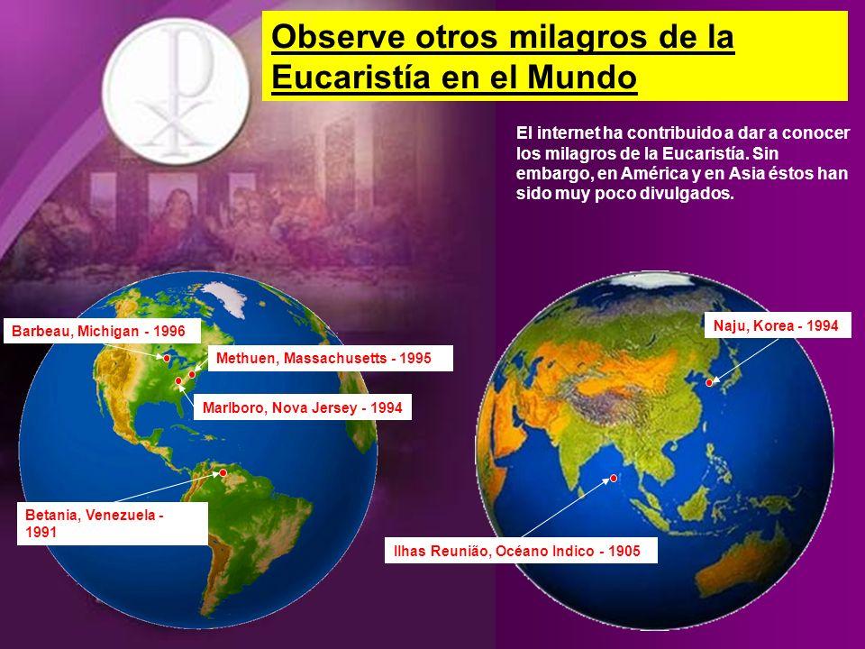 Observe otros milagros de la Eucaristía en el Mundo