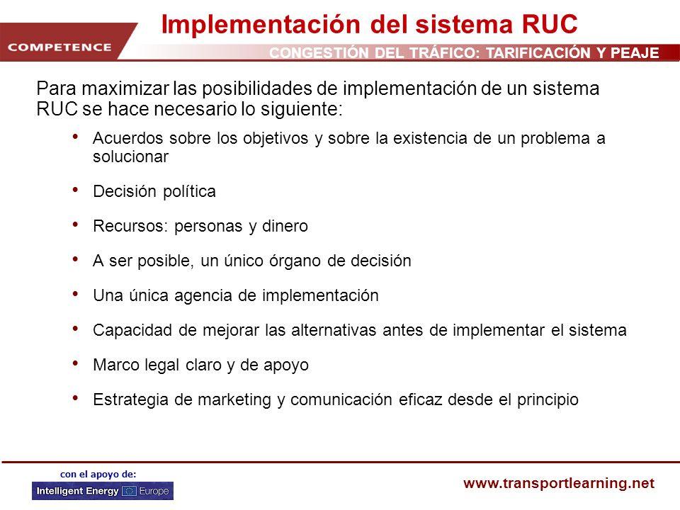 Implementación del sistema RUC