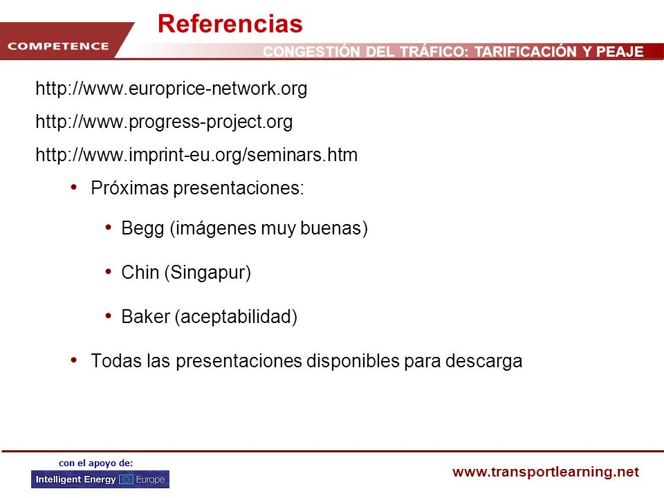 Referencias http://www.europrice-network.org