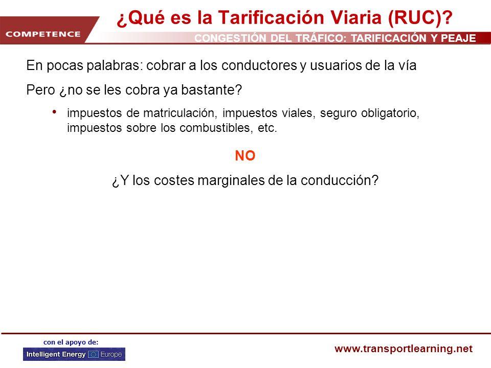 ¿Qué es la Tarificación Viaria (RUC)