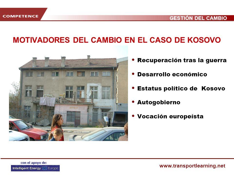 MOTIVADORES DEL CAMBIO EN EL CASO DE KOSOVO