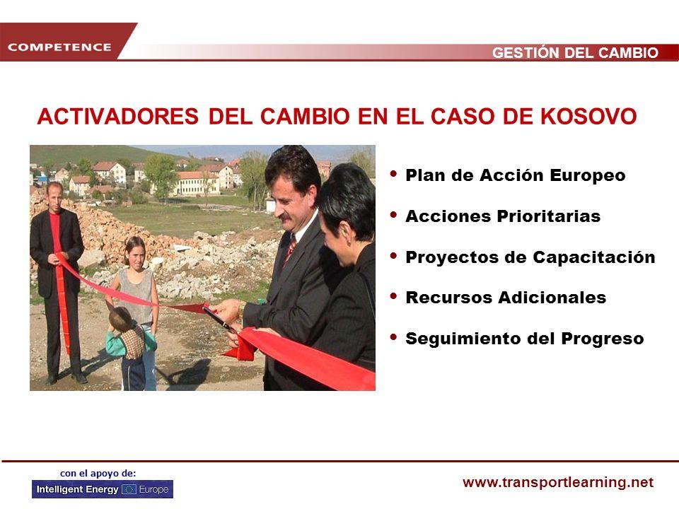 ACTIVADORES DEL CAMBIO EN EL CASO DE KOSOVO