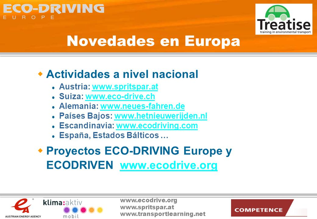 Novedades en Europa Actividades a nivel nacional