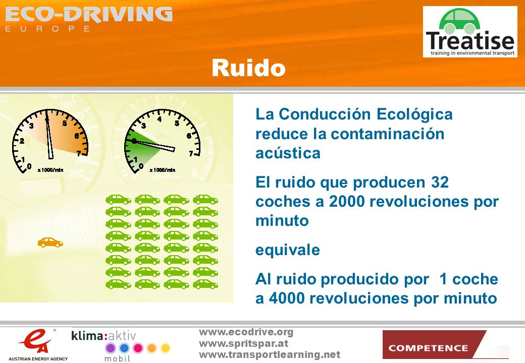 Ruido La Conducción Ecológica reduce la contaminación acústica