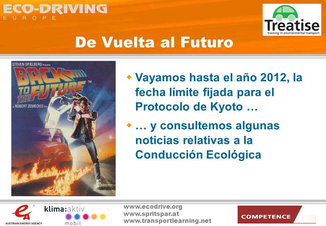 De Vuelta al Futuro Vayamos hasta el año 2012, la fecha límite fijada para el Protocolo de Kyoto …