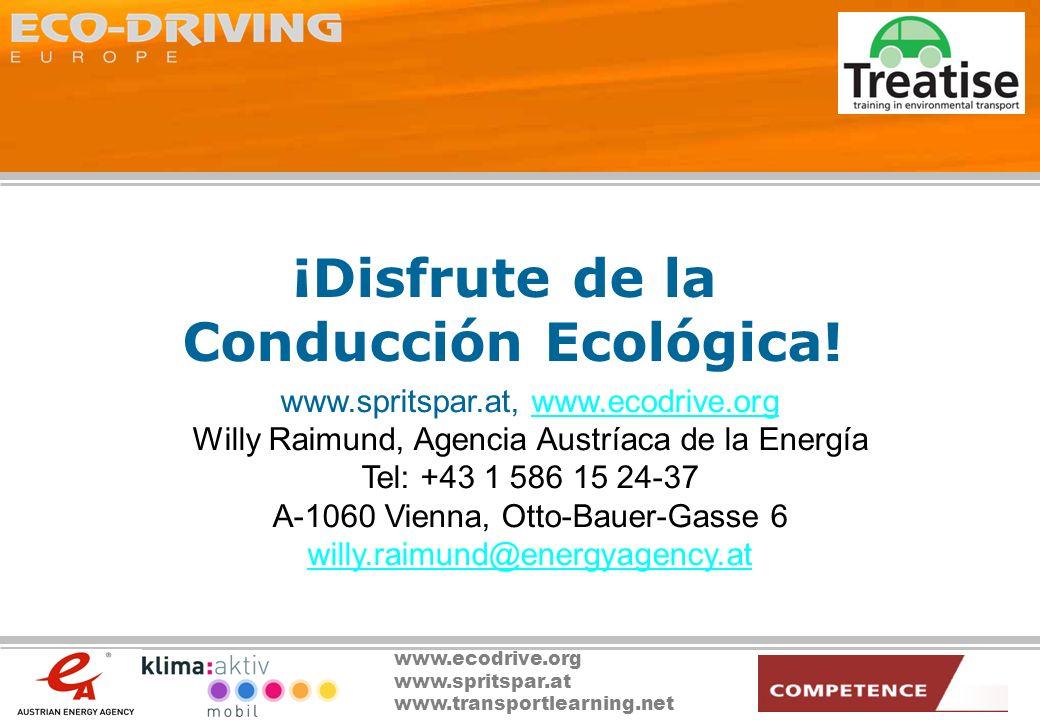 ¡Disfrute de la Conducción Ecológica!