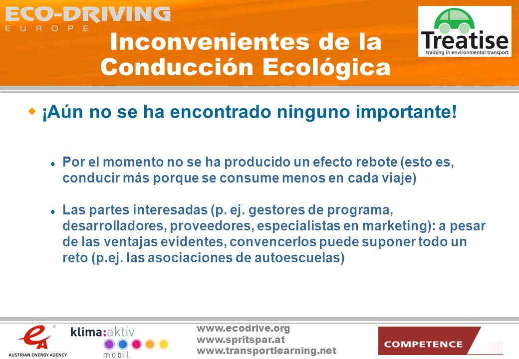 Inconvenientes de la Conducción Ecológica
