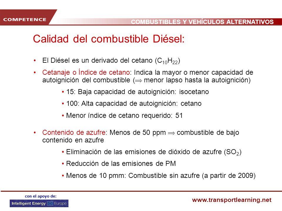 Calidad del combustible Diésel: