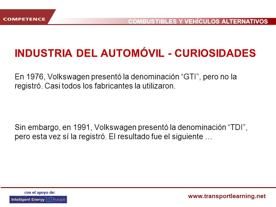 INDUSTRIA DEL AUTOMÓVIL - CURIOSIDADES