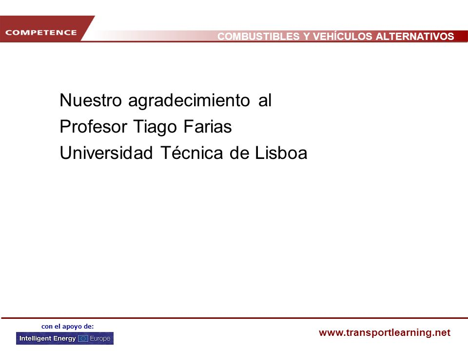 Nuestro agradecimiento al Profesor Tiago Farias