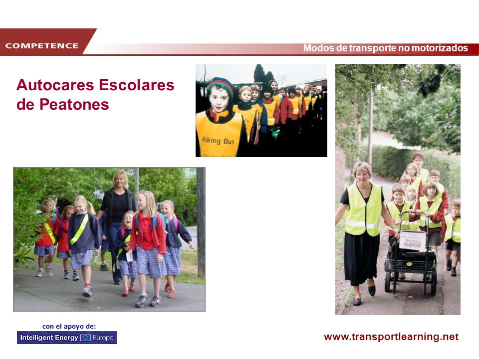 Autocares Escolares de Peatones