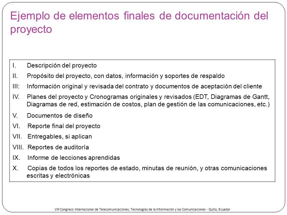 Gesti n de las comunicaciones en proyectos seg n el pmbok for Ejemplo proyecto completo pmbok