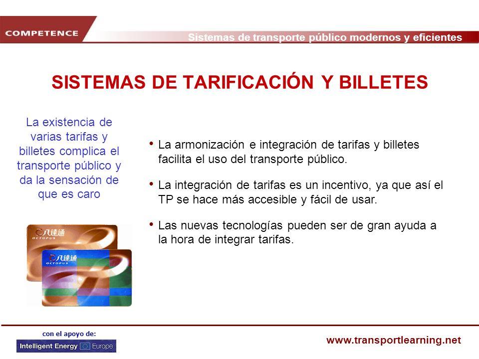 SISTEMAS DE TARIFICACIÓN Y BILLETES