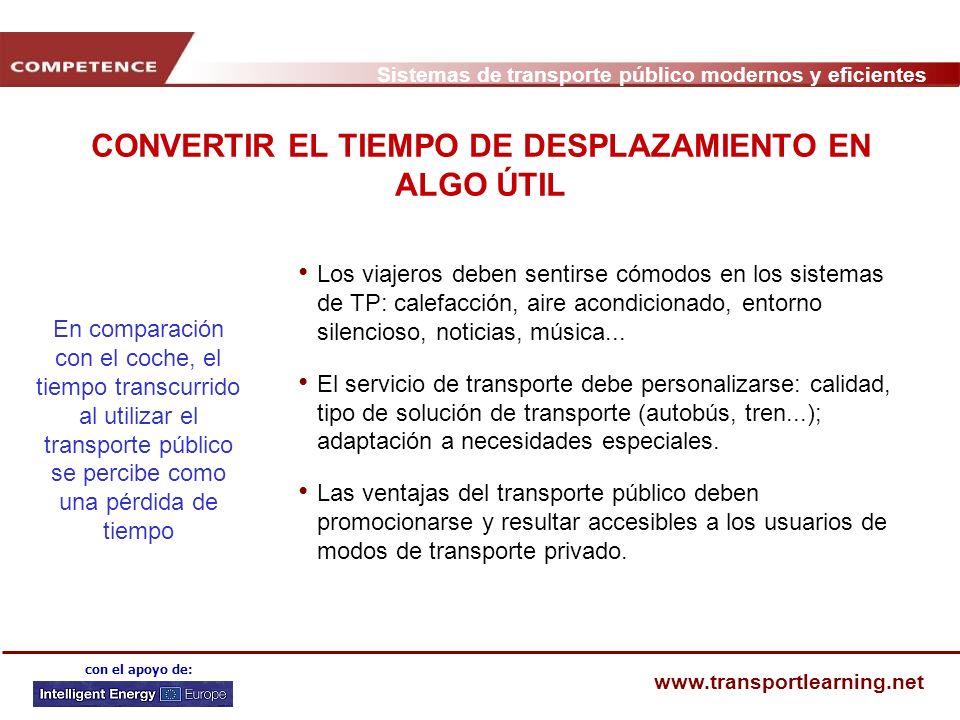 CONVERTIR EL TIEMPO DE DESPLAZAMIENTO EN ALGO ÚTIL