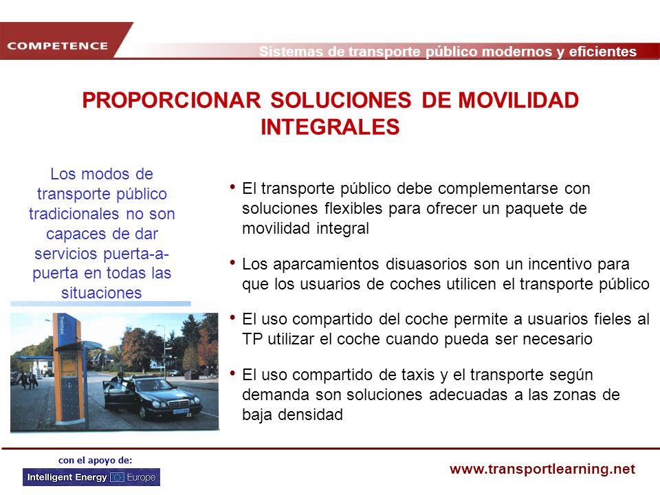 PROPORCIONAR SOLUCIONES DE MOVILIDAD INTEGRALES