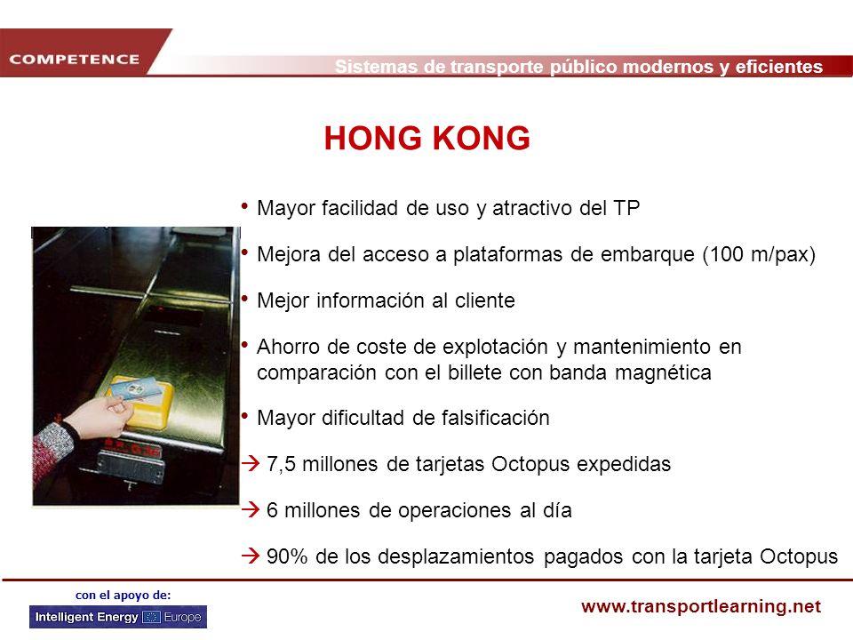 HONG KONG Mayor facilidad de uso y atractivo del TP