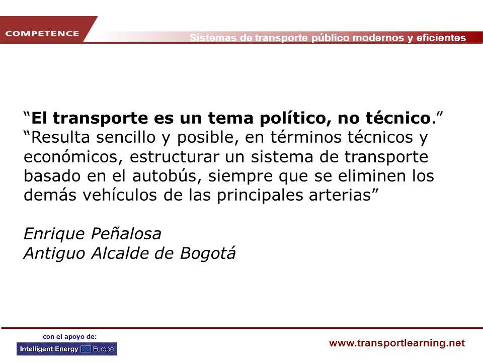El transporte es un tema político, no técnico.