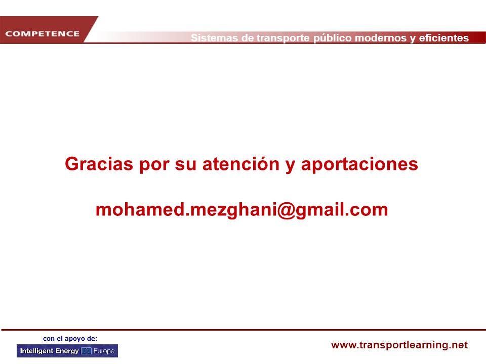 Gracias por su atención y aportaciones mohamed.mezghani@gmail.com