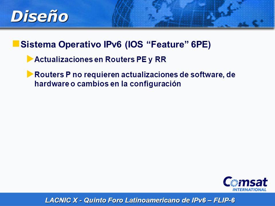 Diseño Sistema Operativo IPv6 (IOS Feature 6PE)