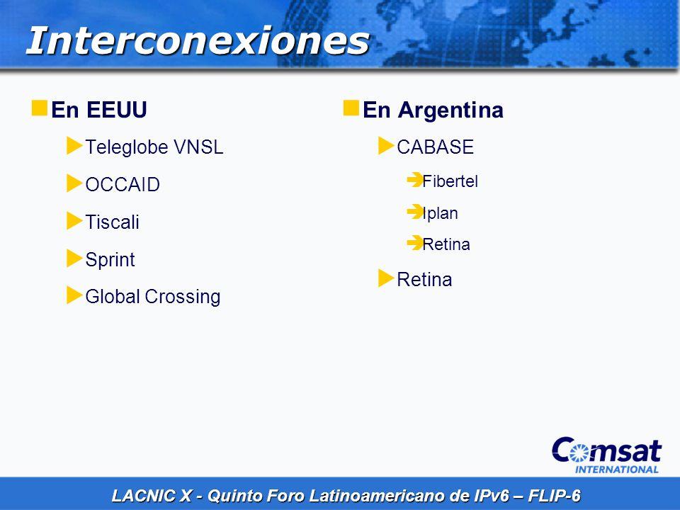 Interconexiones En EEUU En Argentina Teleglobe VNSL OCCAID Tiscali